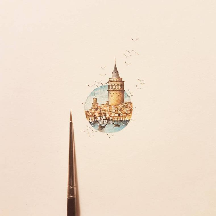Micro Art - The latest miniature paintings by Hasan Kale