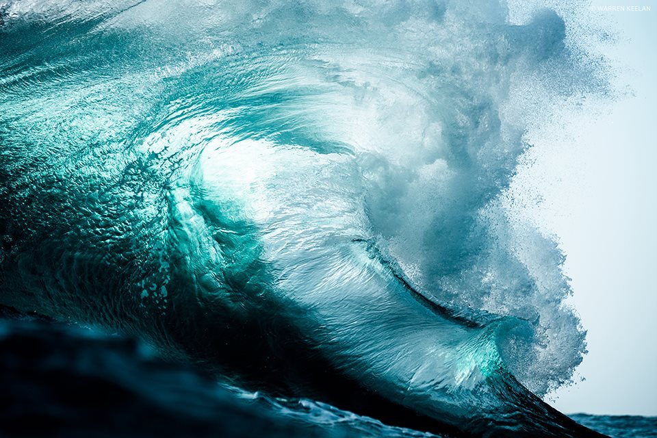 New Photographs of Monumental Waves Crashing in Australia by Warren Keelan