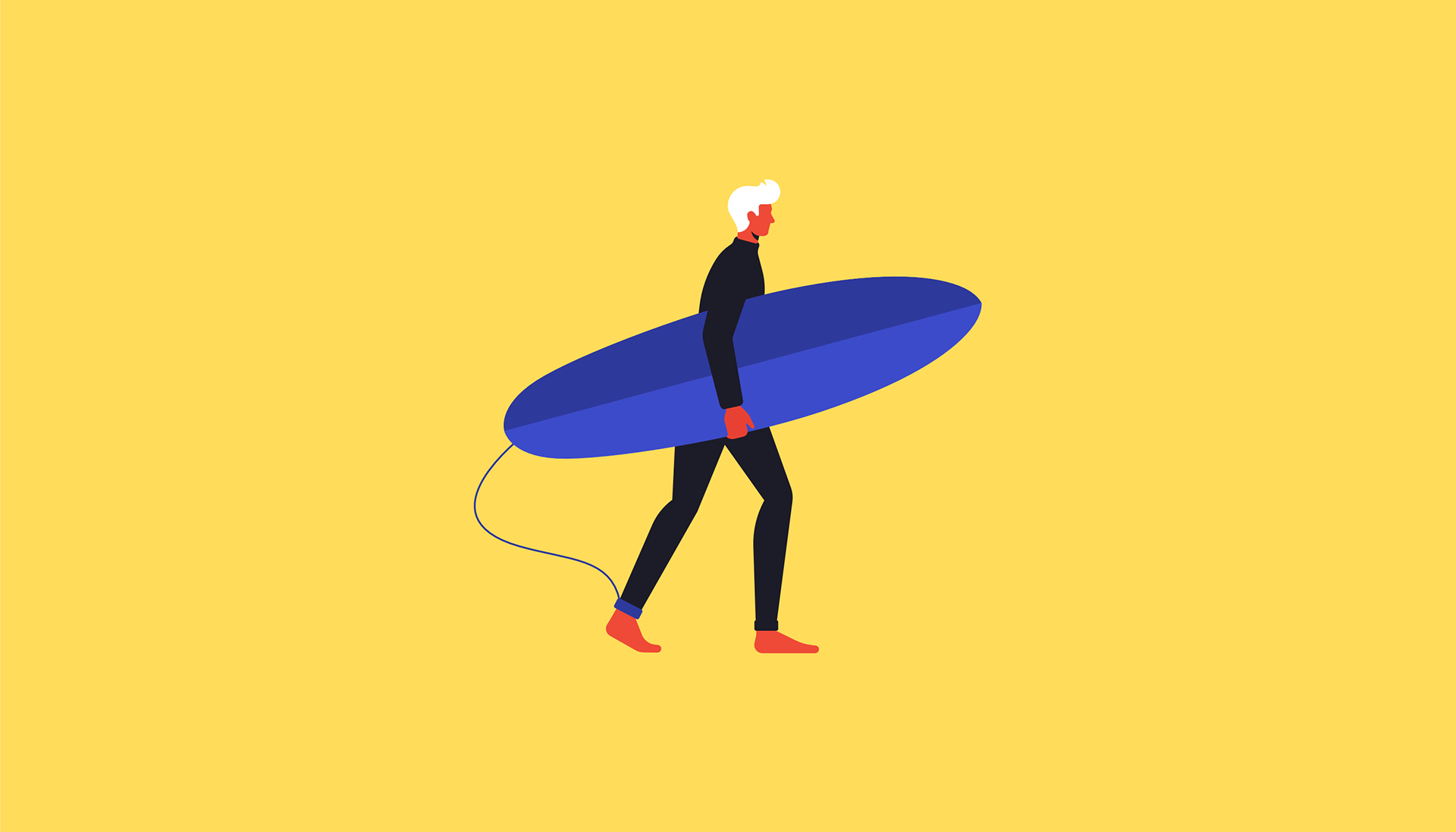 Colorful Flat Design Illustration by Justina Lei