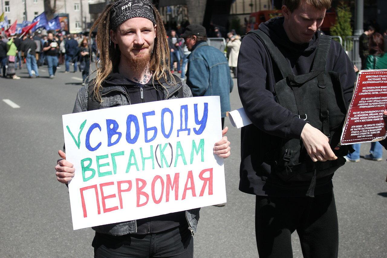 Плакат  в защиту веганов