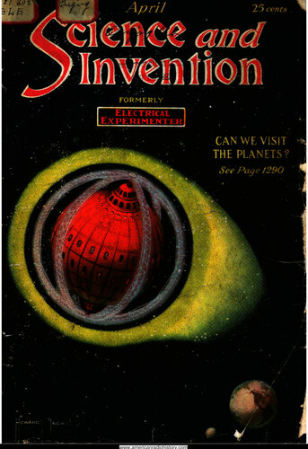 Science & Invention: 1921 April - - Book Cover