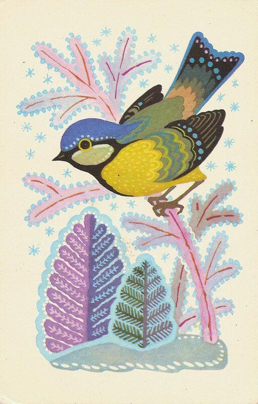 новогодние открытки 60-х