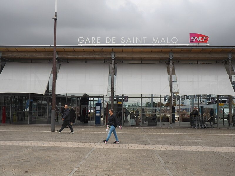 Франция, Сен-Мало - вокзал (France, Saint-Malo - Train Station)