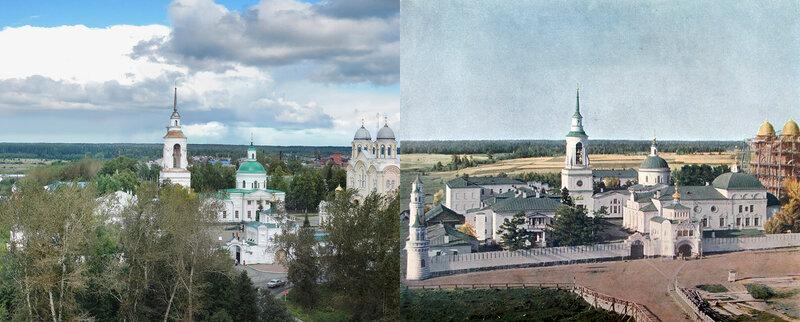 Вид на Верхотурский монастырь. 1909 год и 106 лет спустя2.jpg