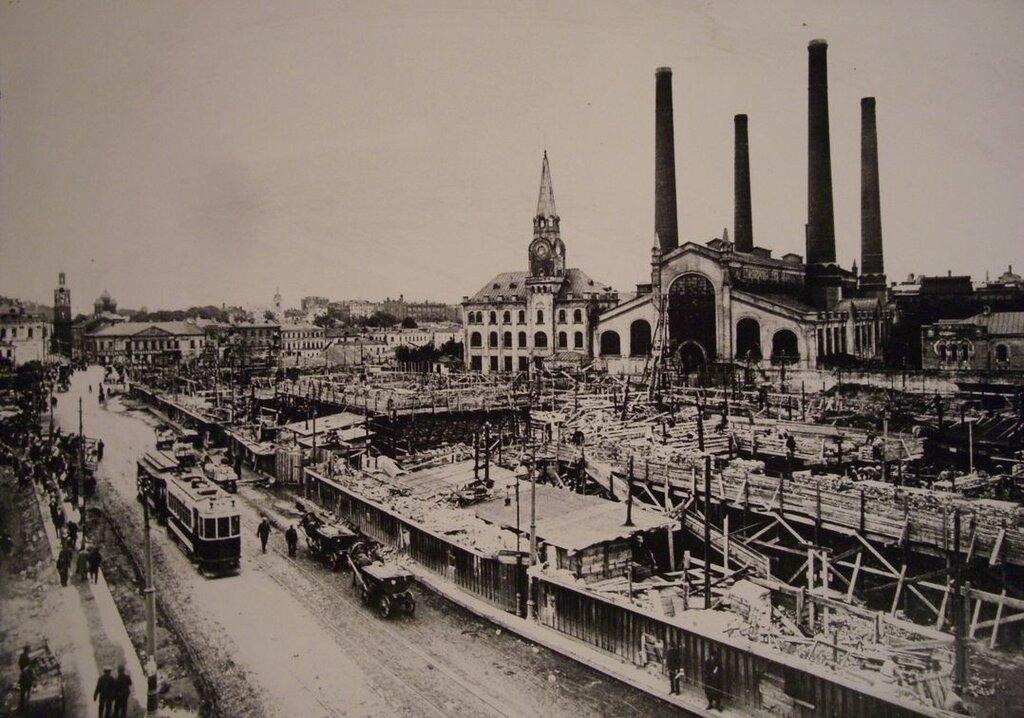 69416 Строительство кинотеатра «Ударник» и  «дома на набережной» 1927-1928.jpg