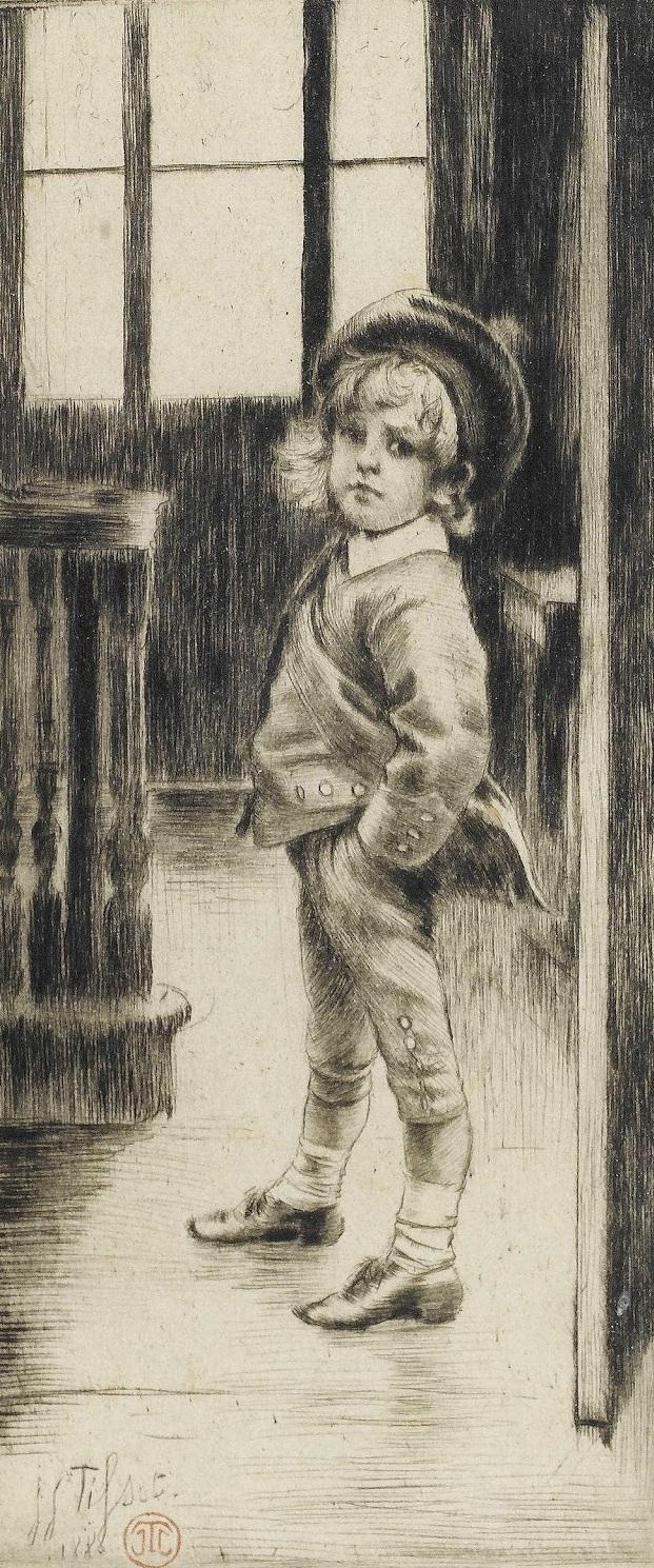 1880 Его первые бриджи (Sa Premiere Culotte офорт, сухая игла.jpg