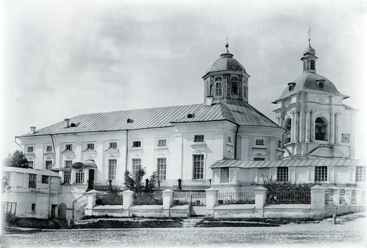 Богоявленский собор и колокольня Успенского собора. 1901