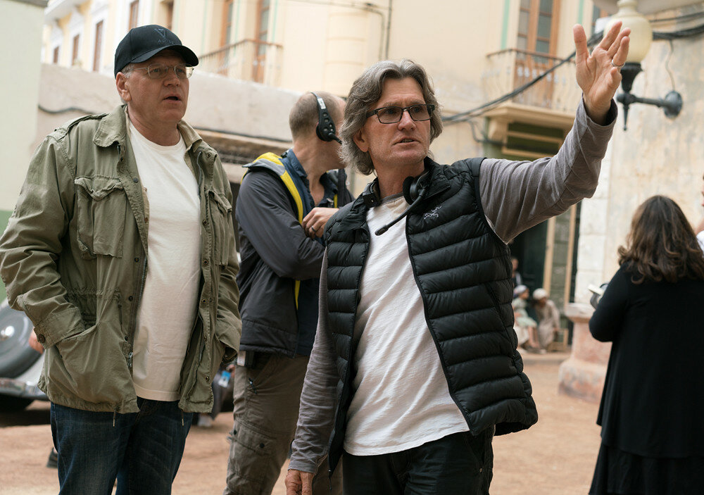 Director Robert Zemeckis and Director of Photography Don Burgess on the set of Allied from Paramount Pictures.