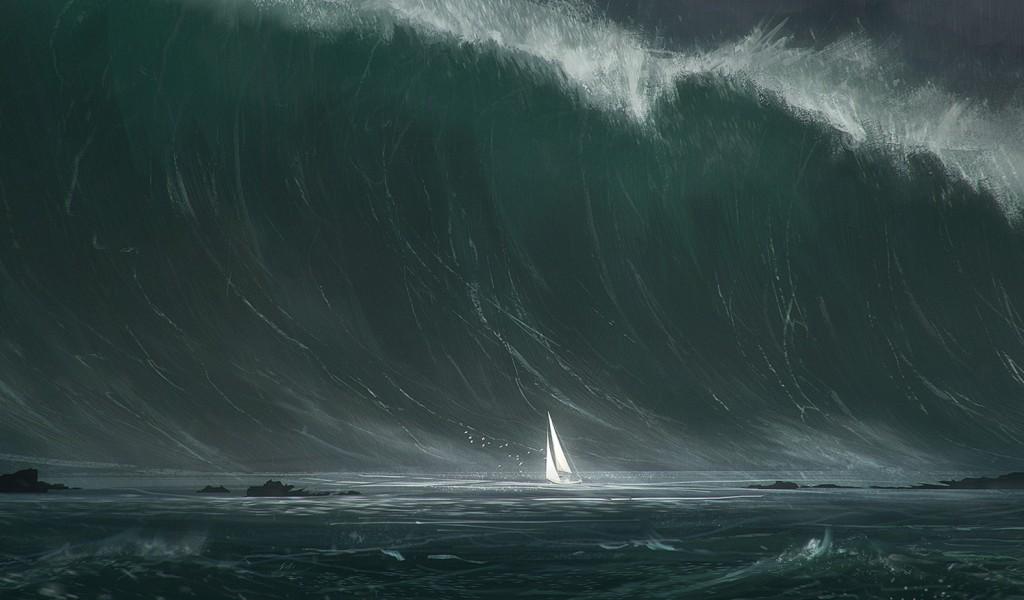 Гигантская волна, зафиксированная буем