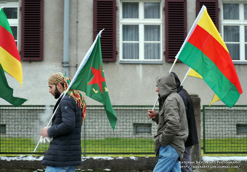Lange Marsch für Abdullah Öcalan (Berlin, Germany) - Курдская демонстрация в Берлине