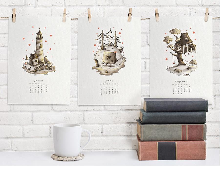 2017 Monthly Wall Calendar - Дарья Данилова
