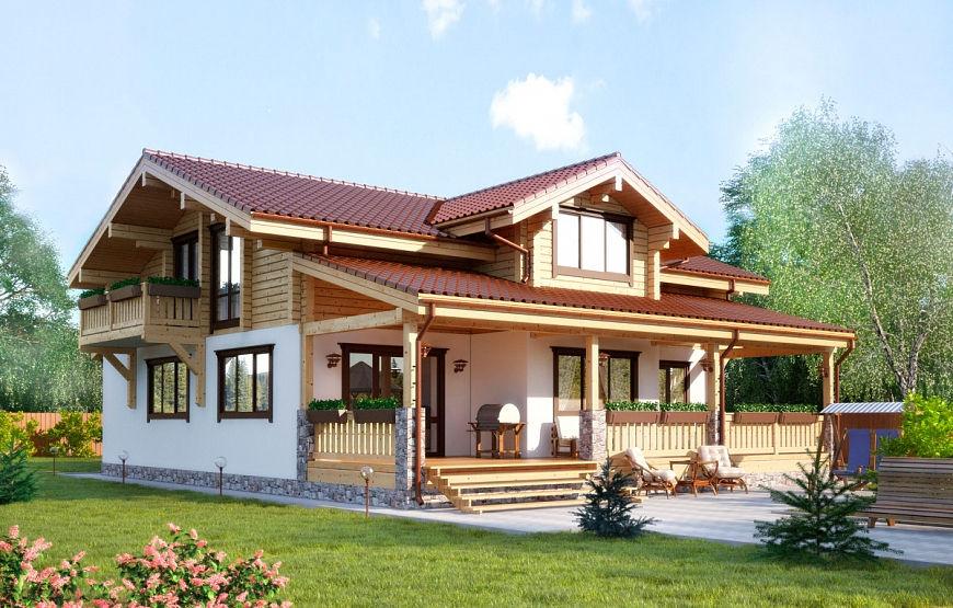 домик в стиле шале