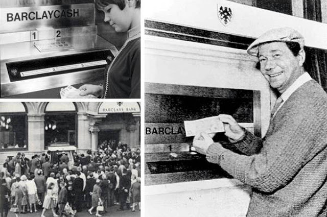 Первый банкомат, 1967 год Удобный способ снятия наличных со счета через банкомат придумал Джон Шепер