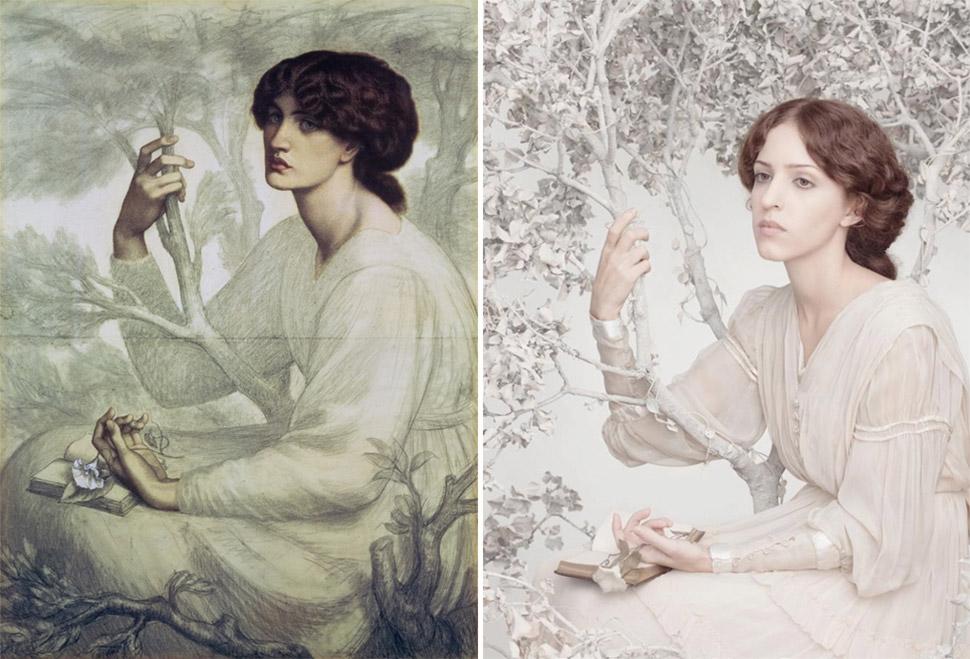 «Сон наяву», Данте Габриэль Россетти, 1880 год.
