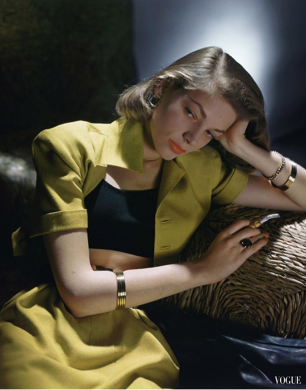 15. Модель Кэрол Брюс. Фото Женевьев Нейлор, 1946 год.