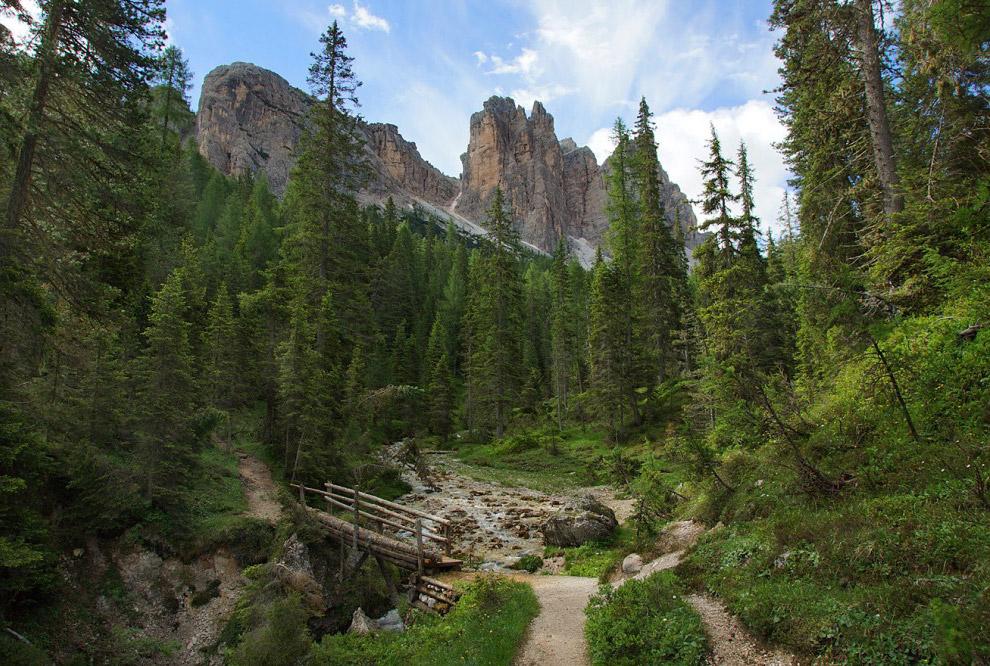 54. Поначалу трек был относительно пологим и был проходил возле красивого горного ущелья. Перей