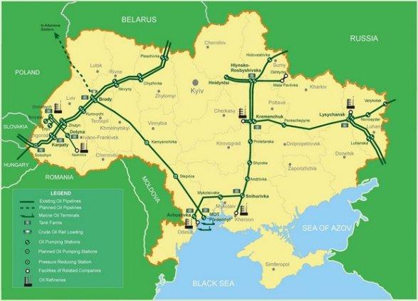 Украина начала импорт азербайджанской нефти потрубопроводу