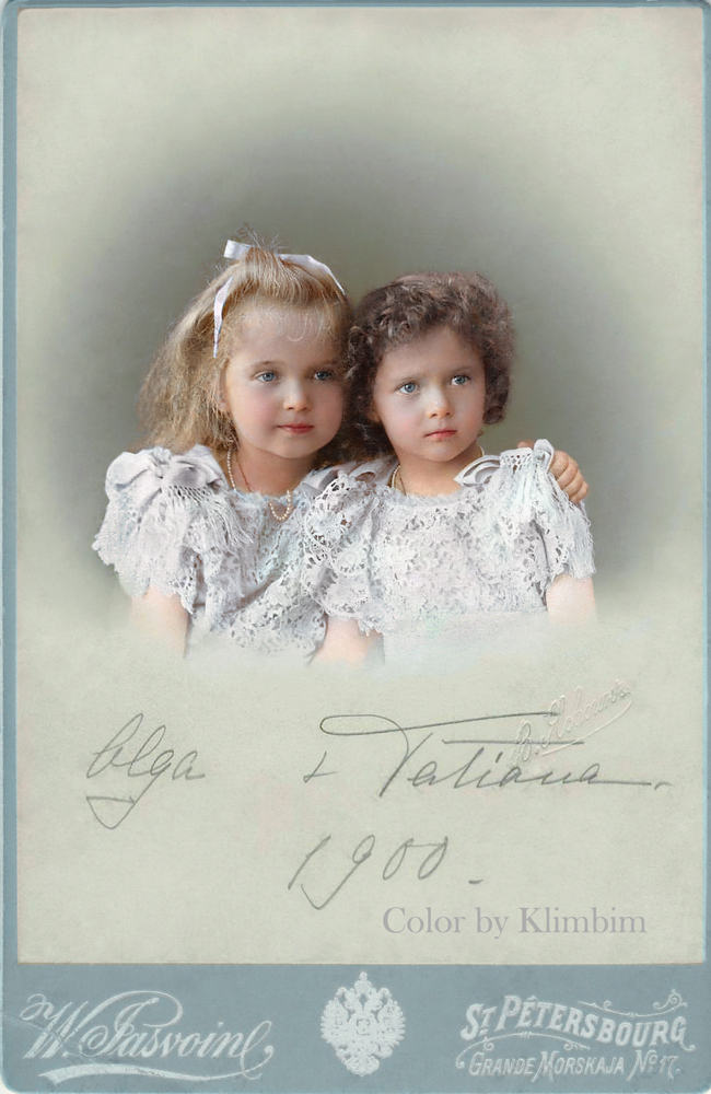 Grand Duchesses Olga and Tatiana, 1900