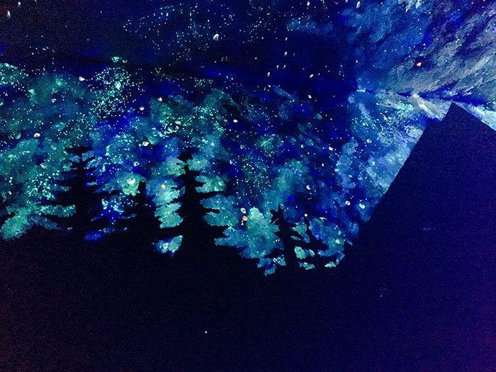 Звездное небо на потолке своими руками