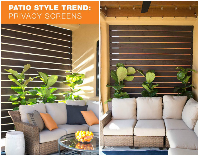 10 diy patio privacy screen projects free plan 13 pics for Apartment balcony privacy solutions
