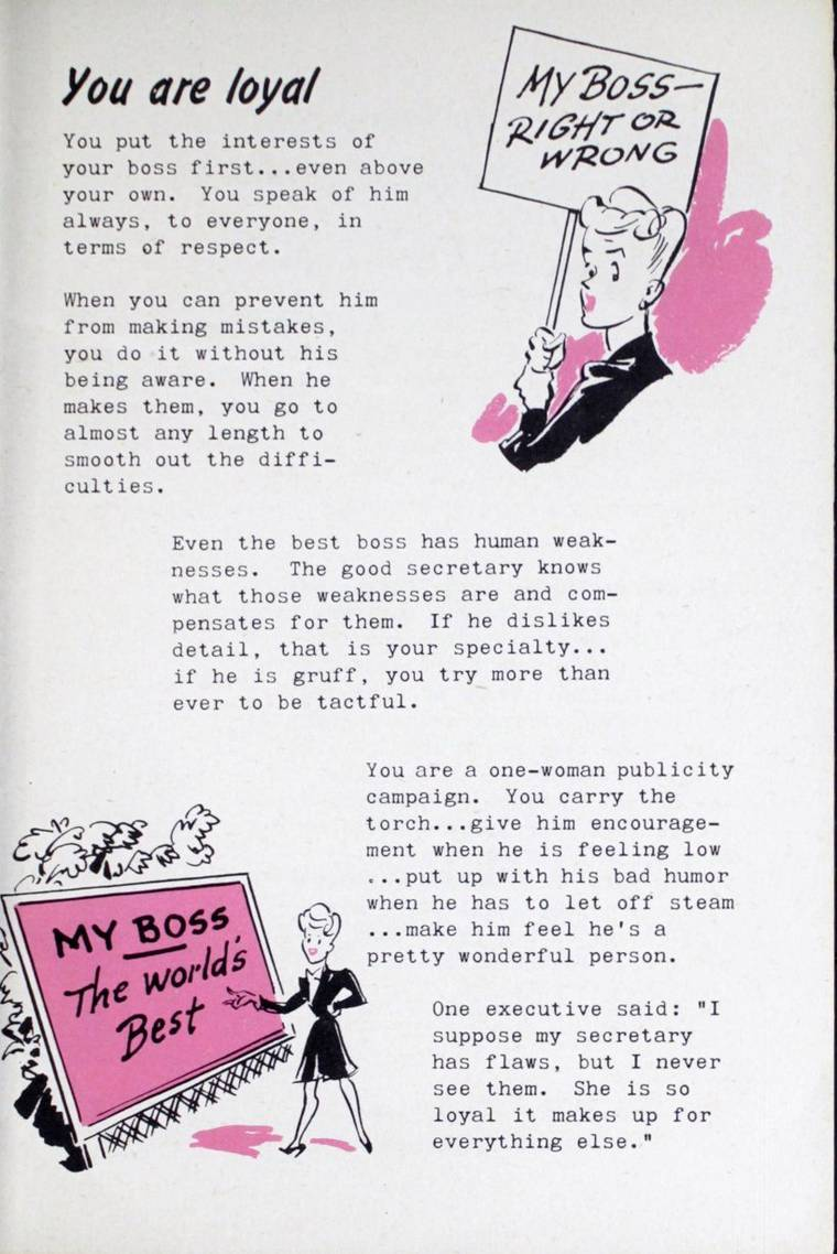 Super Secretary - A sexist guide for secretaries published in 1945