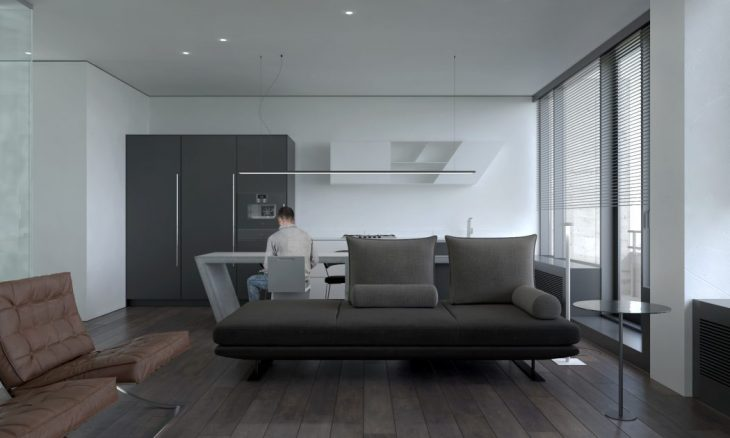 V69 Studio Apartment in Moscow by KDVA Architects