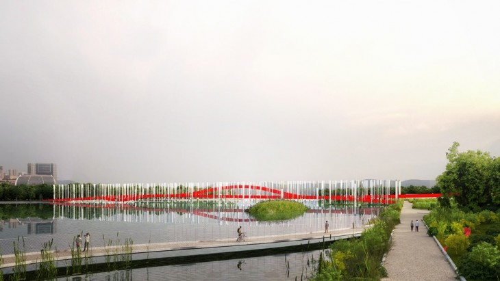 Maharashtra Nature Park & Bridge by MenoMenoPiu Architects