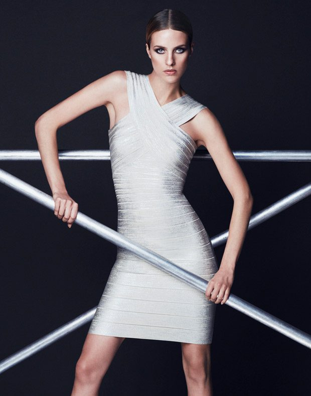 Julia Frauche Stars in Herve Leger Holiday 2016 Lookbook
