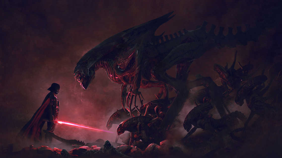 Star Wars vs Aliens - A series of explosive illustrations!