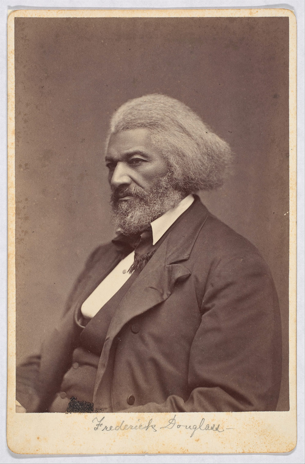 Frederick Douglass. Portrait by Mathew B. Brady, 1880.