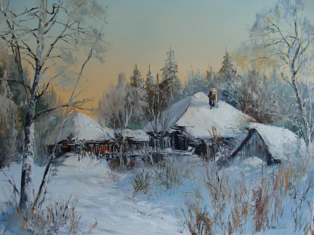 Леднев Александр Алексеевич . Морозное утро..jpg