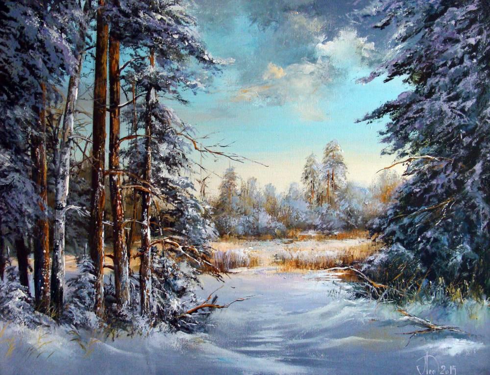 Леднев Александр Алексеевич . У замерзшей реки..jpg