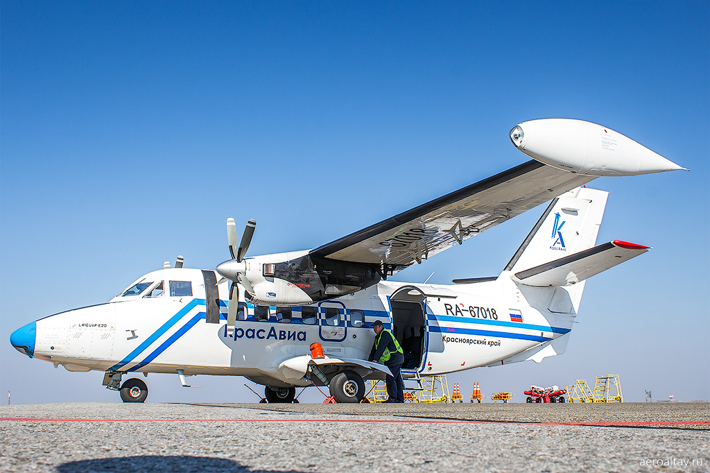 Самолет Л-410 Красавиа. Рейс из Томска в Барнаул