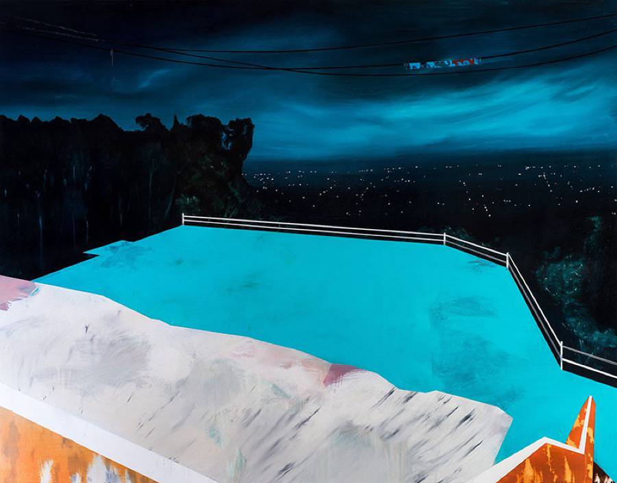Beautiful Paintings of Houses at Night