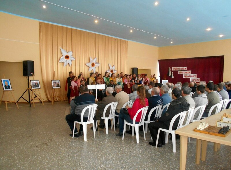 Зрители и исполнители ... Шахматный турнир. Выселки. Декабрь 2016