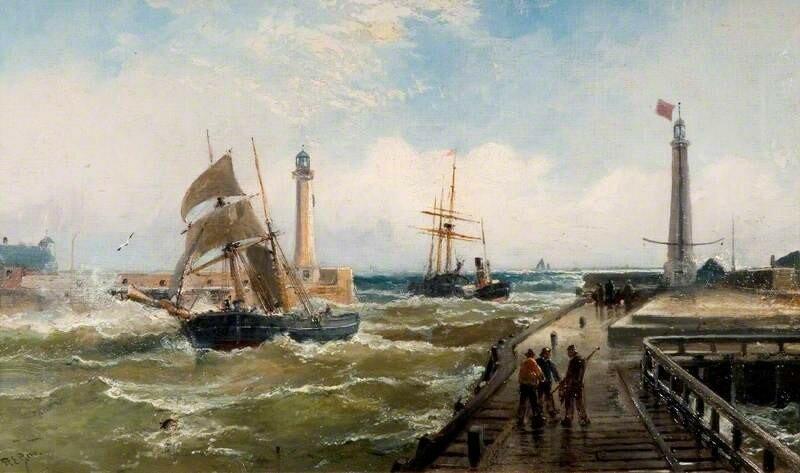 Between Sunderland Piers