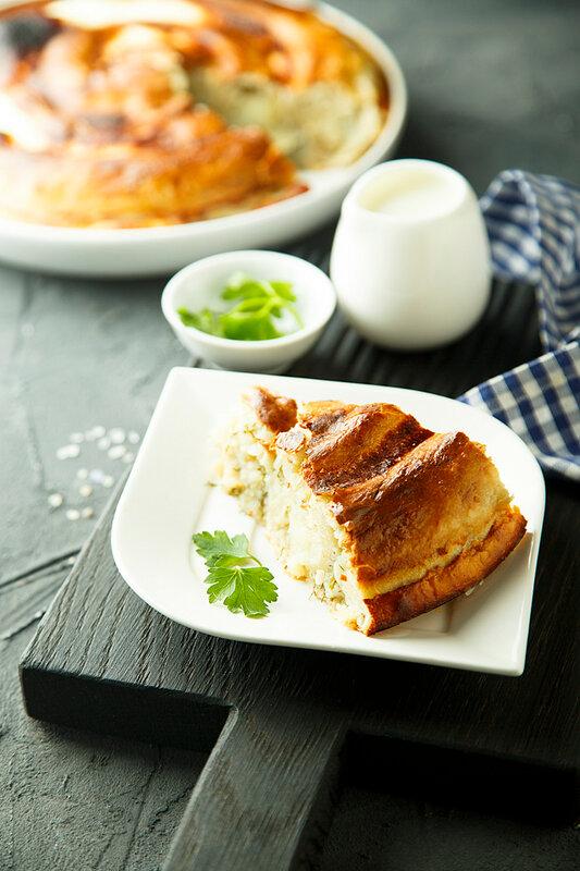 Пирог с картофелем.