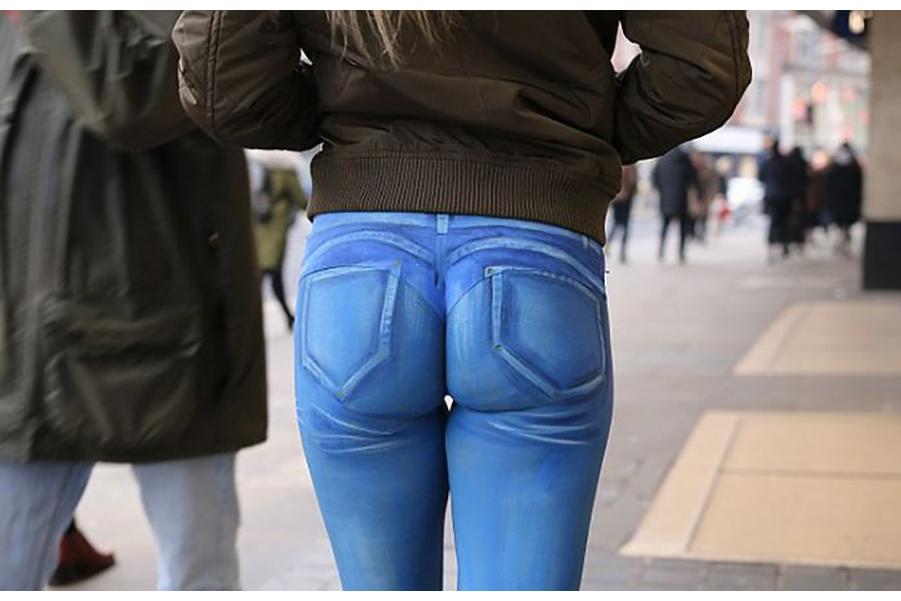 Нарисованные джинсы: не верь глазам своим!