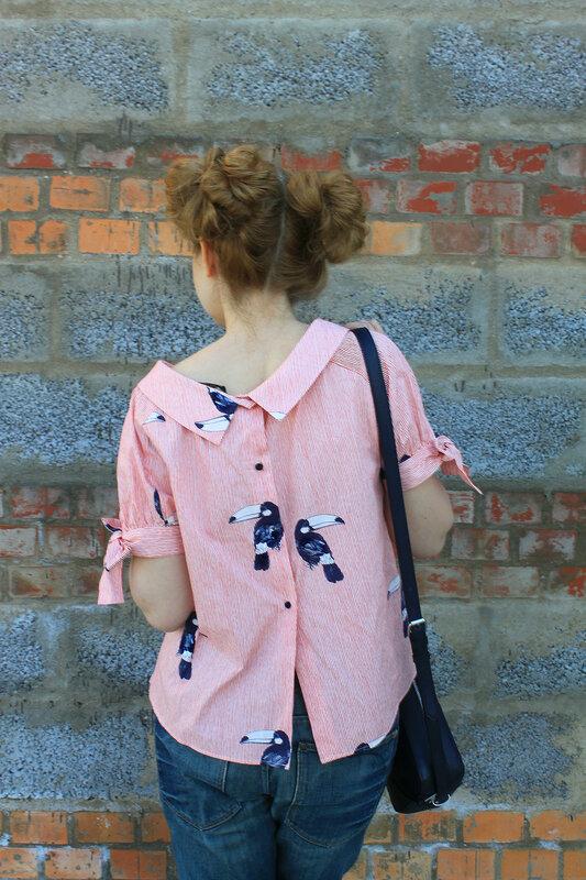 Блузка - Zara, сумка - Springfield