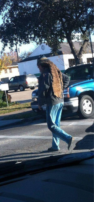 Люди, которые не ухаживают за волосами