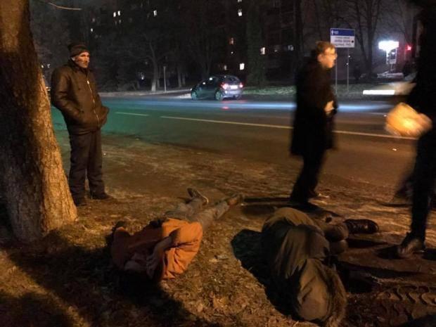 В Ужгороде пьяный СБУ-шник проехался своим авто по двух иностранцах (фото, видео)