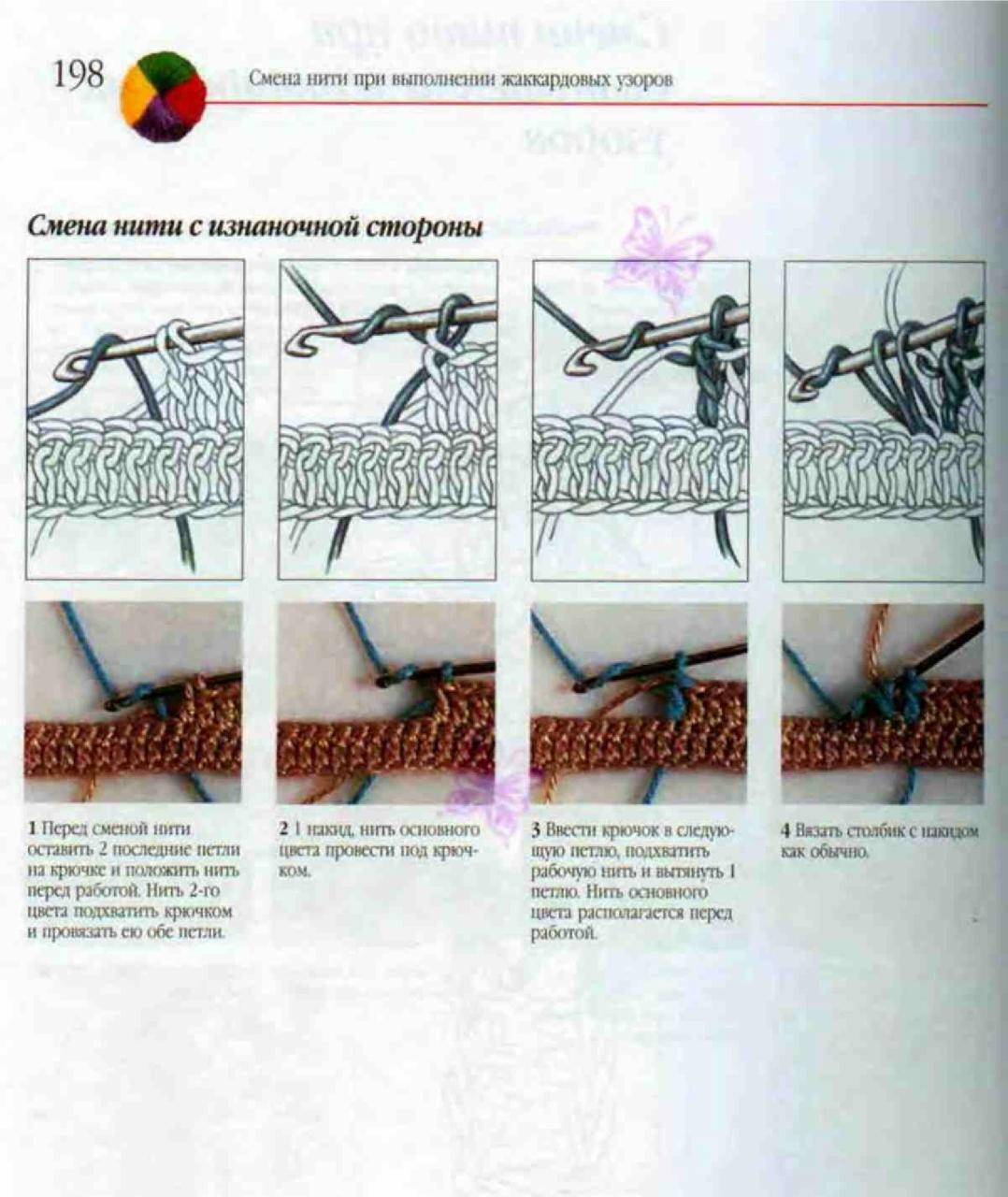 Как присоединить нить при вязании другим цветом на спицах