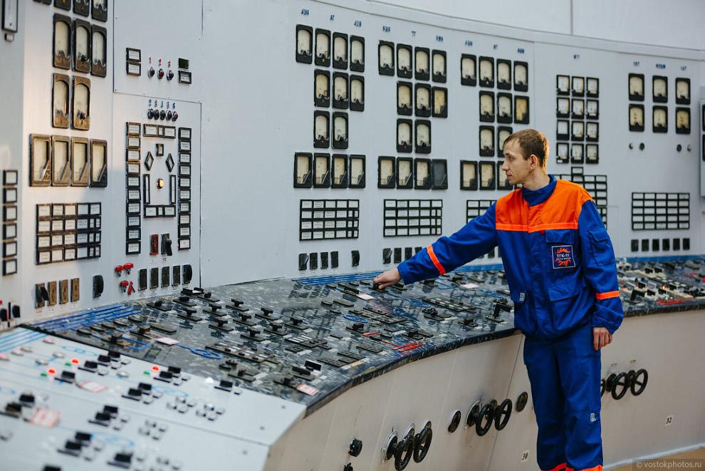 18. Ключи управления котлоагрегатом на панели центрального теплового щита управления.