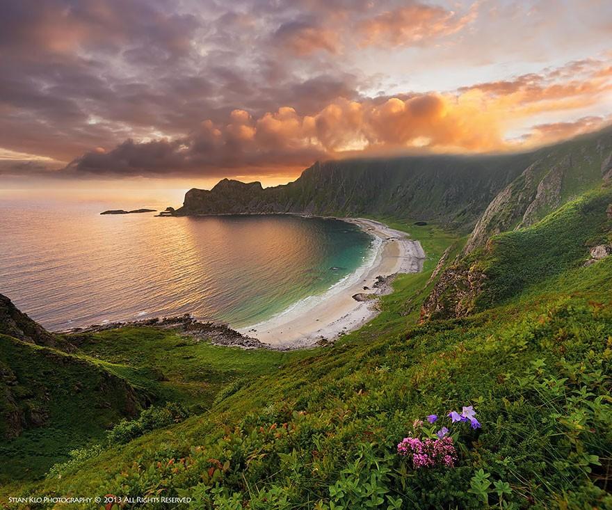 11. Пляж на Андёйе в Вестеролене, Северная Норвегия