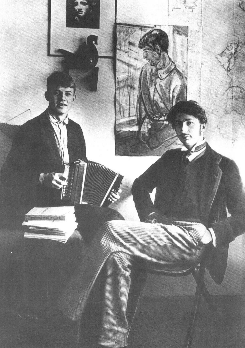 Сергей Есенин и Николай Клюев, 1916 год