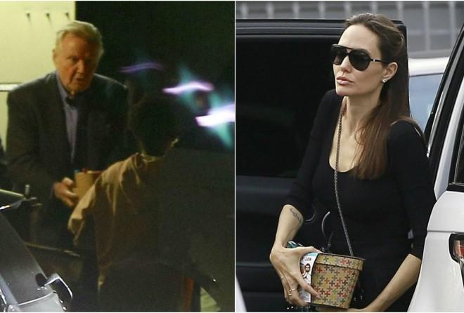 Джоли с детьми встретилась со своим отцом, с которым была в ссоре — фото (8 фото)