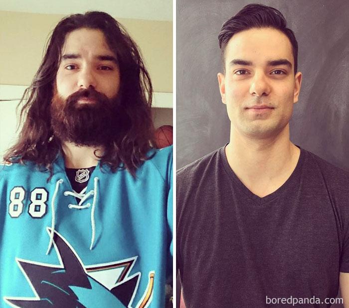 Этот парень тоже пожертвовал свои волосы — и не зря.