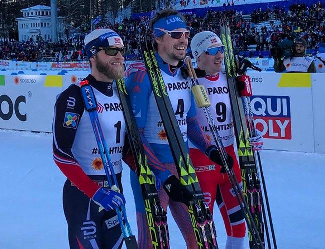 Лыжники Крюков иУстюгов выиграли командный спринт наЧМ