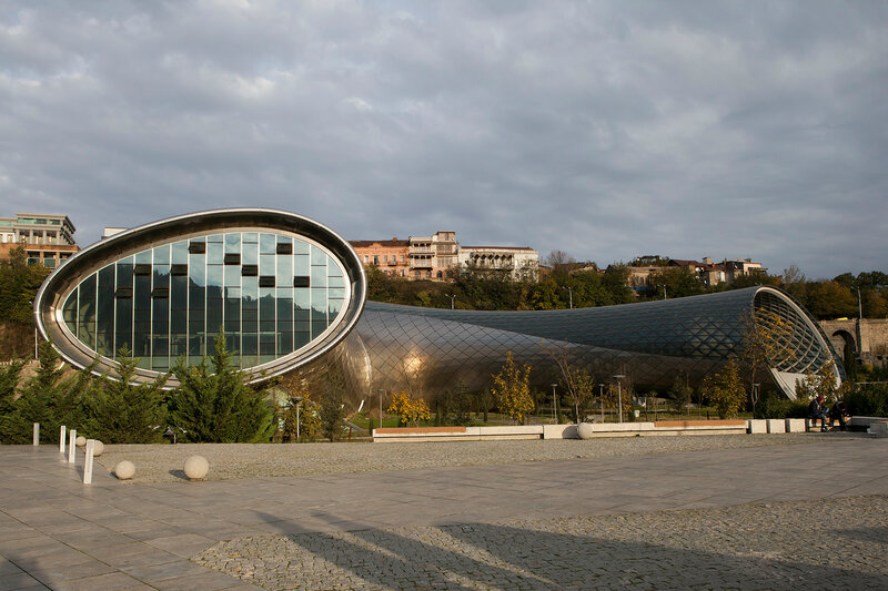 Concert Hall and the Official residence of Georgian President in Tbilisi, Georgia