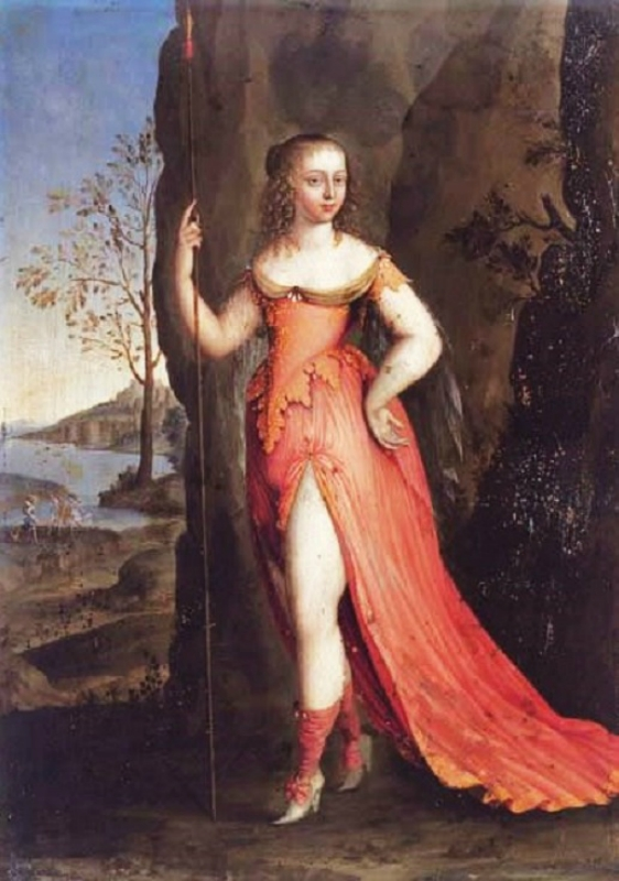 1640 Joseph Werner the Elder (Swiss artist, 1600s) Young Lady as Diana,c..jpg
